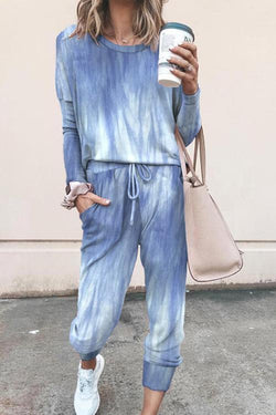 IceyChic Tie Dye Pocketed Sweatsuit (3 Colors)-IceyChic Fashion