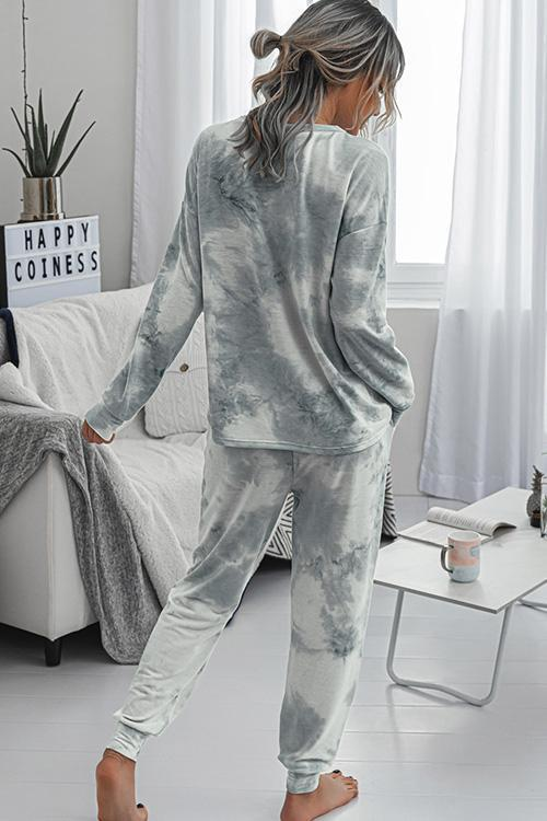 IceyChic Tie Dye Pocketed Sweatsuit (4 Colors)-IceyChic Fashion