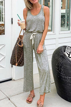 IceyChic Wide Leg Tank Jumpsuit (2 Colors)-IceyChic Fashion