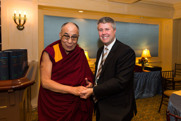 Rob Garland with the Dalai Lama