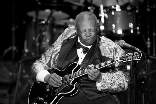 Photograph of B.B. King by Rob Garland