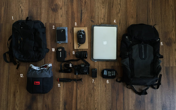 China Travel Ultra-light photography gear packing list