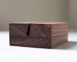 Handcrafted walnut wood block by Saw & Mitre Frame Company