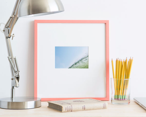 Custom Picture Frame in Coral