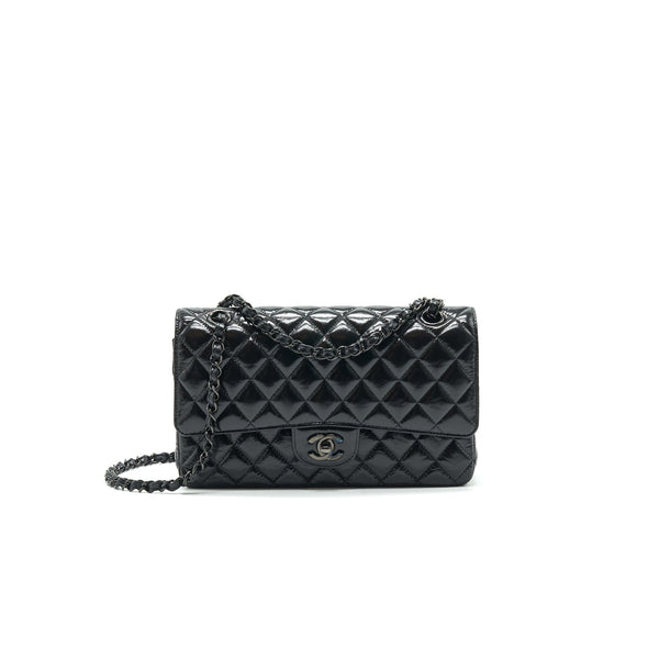 Chanel Medium Classic Double Flap Bag Shiny Crumpled Calfskin