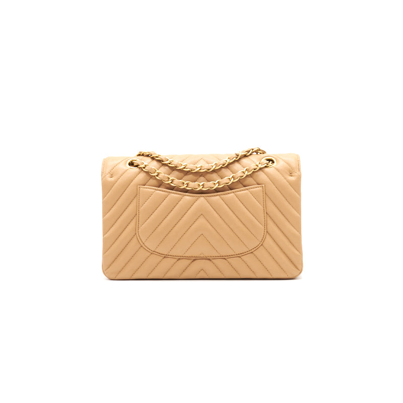 Chanel Medium Classic Flap Dark beige with GHW