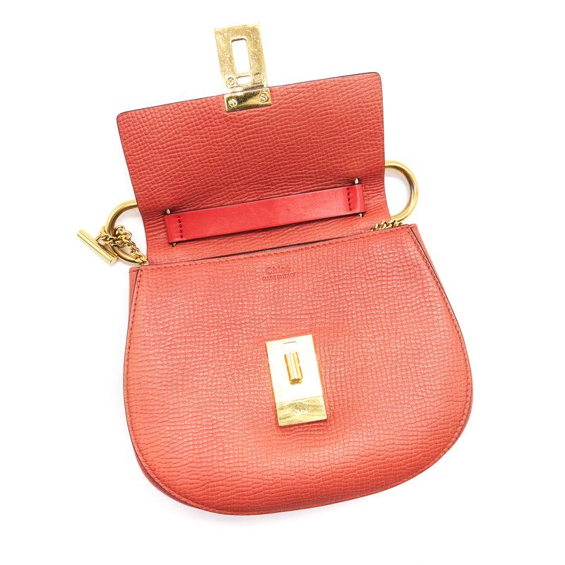 Chloe Mini Drew Bag Peach GHW