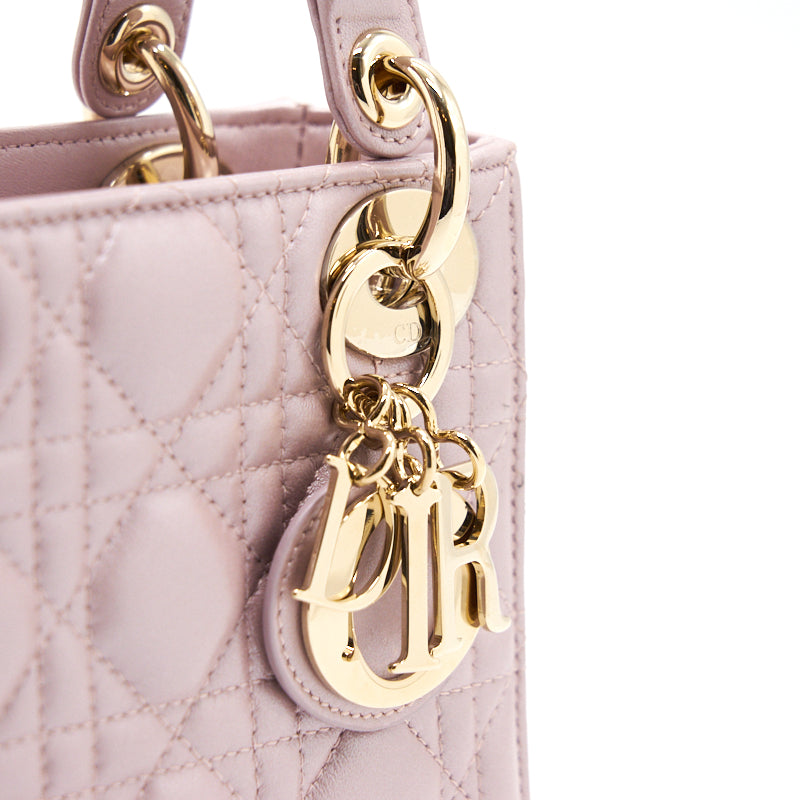 Dior Mini Lady Lotus GHW with Scarf