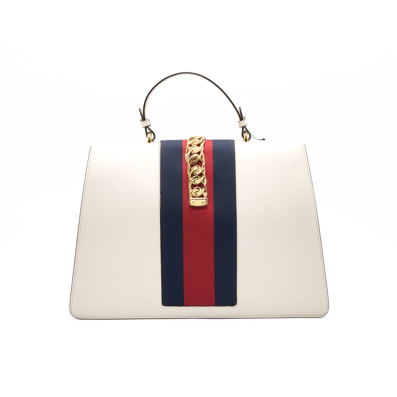 Gucci Sylvie Large tote bag white GHW