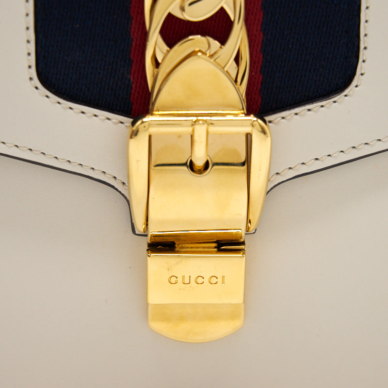 Gucci Sylvie Medium White with Extra Long Strap