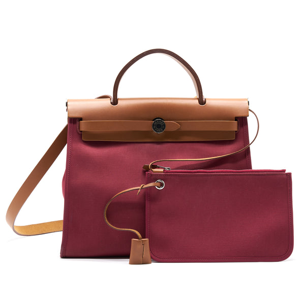 Hermes Herbag 31 Plum Red