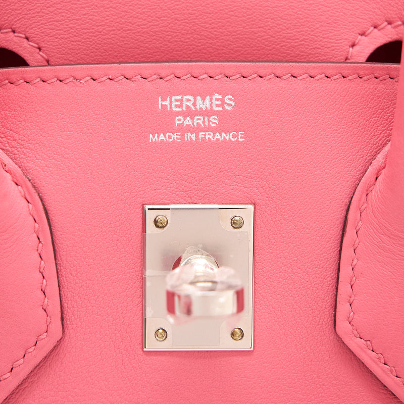 Hermes Birkin 25 8w Rose Azalee Swift SHW