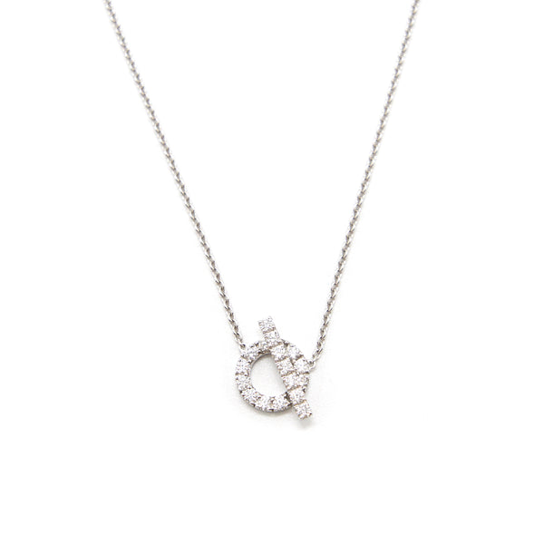 Hermes Finesse Necklace White Gold with Dimond