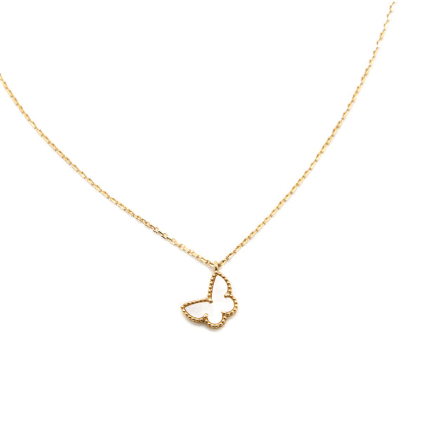 Van Cleef & Arpels Sweet Alhambra Butterfly Pendant ( with 5cm Chain Extension )