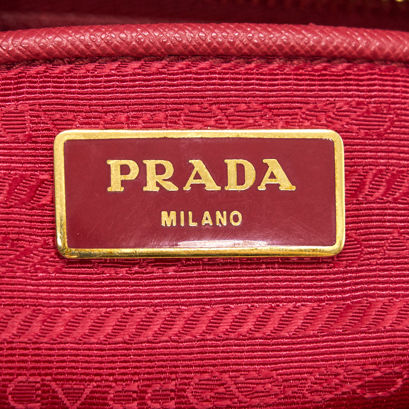 Prada Saffiano Tote Bag Red