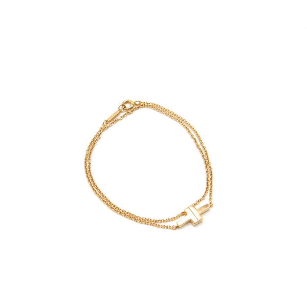 Tiffany T double Chain Bracelet Rosegold