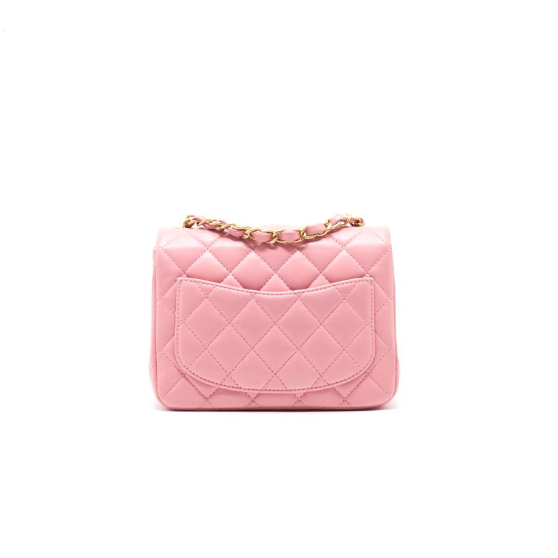 Chanel Lambskin Mini Square Flap Bag - EMIER