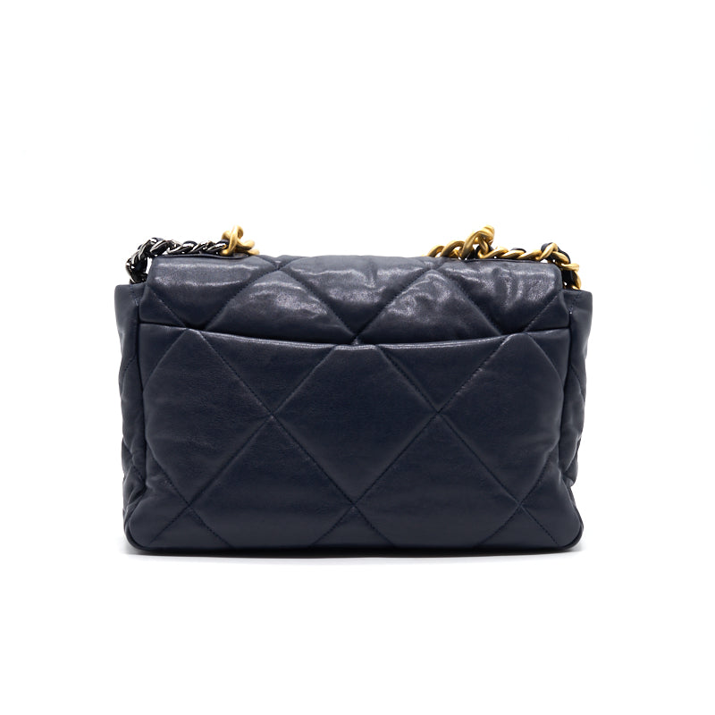 Chanel 19 Large Flap Bag  Navy