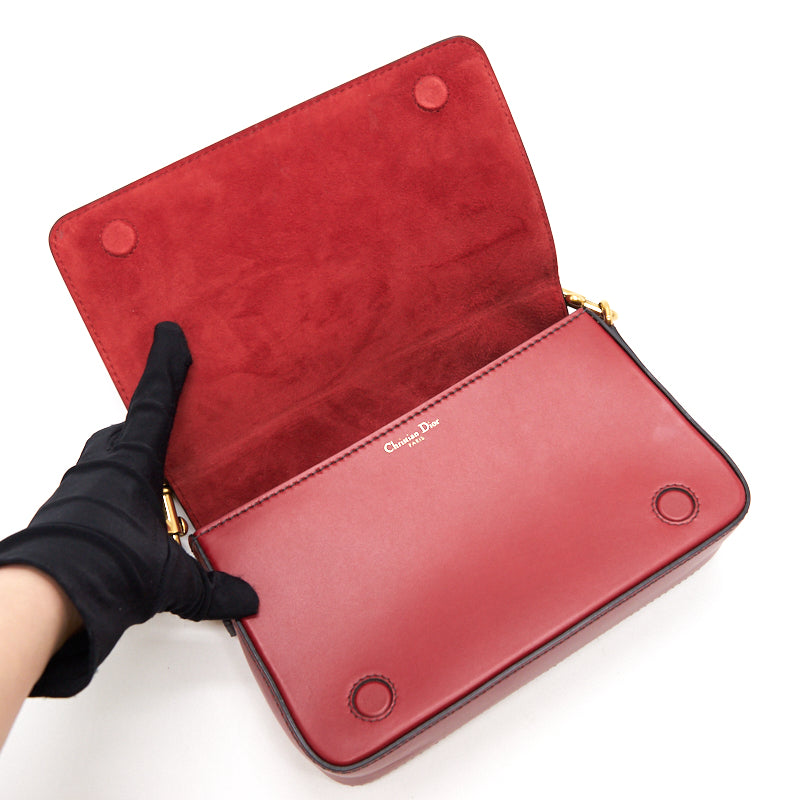 Dior J'adior Clutch Red GHW with Removable and Adjustable Top Handle
