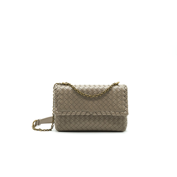 Bottega Veneta Baby Olympia Bag Grey GHW