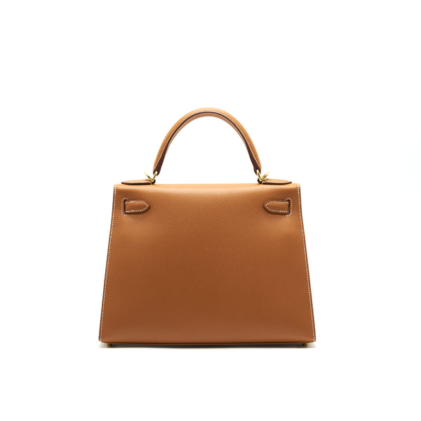 Hermes Kelly28 Sellier epsom Gold with GHW stamp Y