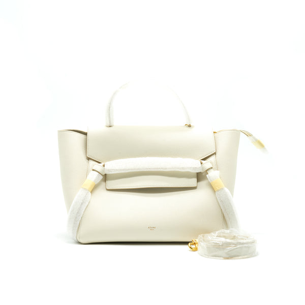 Celine Mini Belt Bag White with GHW