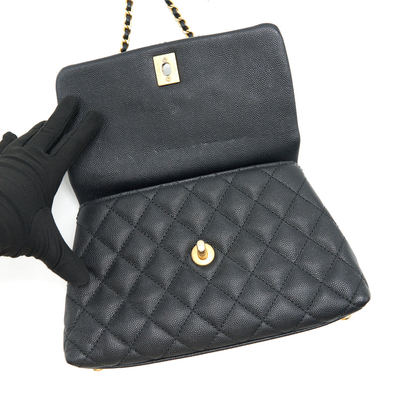 Chanel Caviar Mini Cocohandle Black GHW serial25