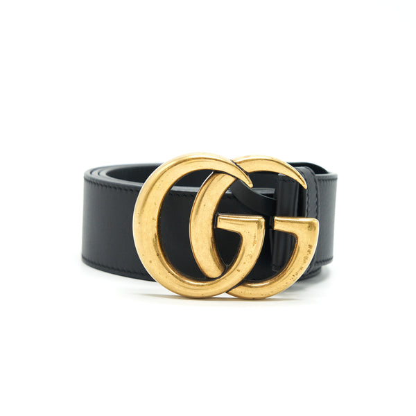 Gucci Wide Leather Belt with G Buckle 4cm wide size 80