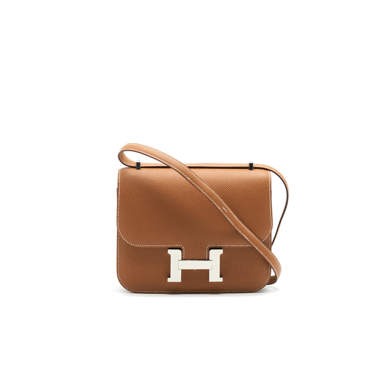 Hermes Mini Constance Epsom 37 Gold with SHW