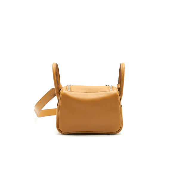 Hermes Mini Lindy Swift Leather Sesame With SHW