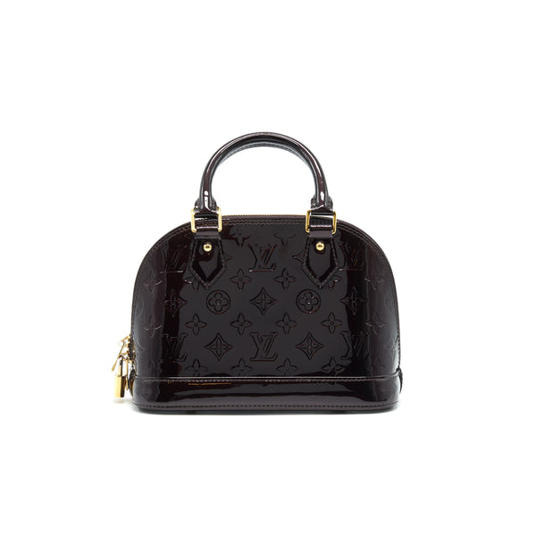 LOUIS VUITTON Alma BB Monogram Vernis Leather Amarante