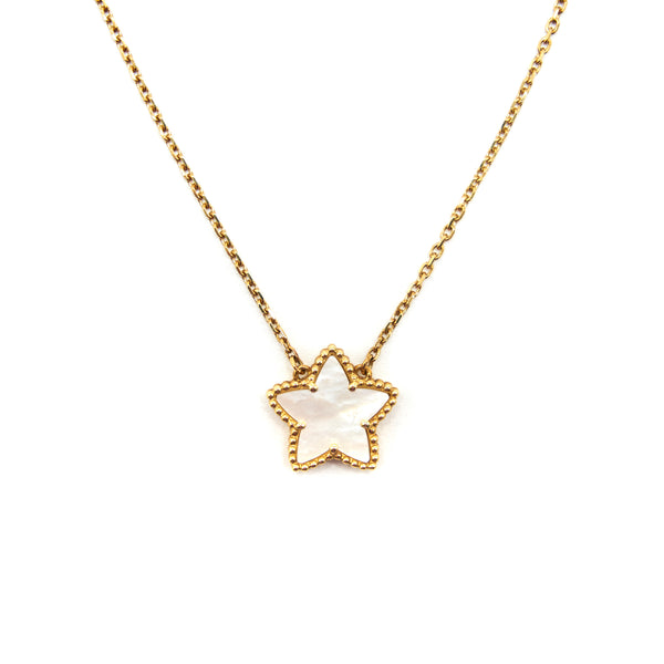 Van Cleef & Arpels Vintage Lucky Star Yellow Gold White Mother-of-pearl