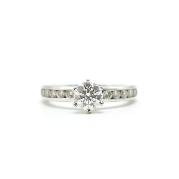 TIFFANY DIAMOND RING 0.76CT E COLOR VVS2