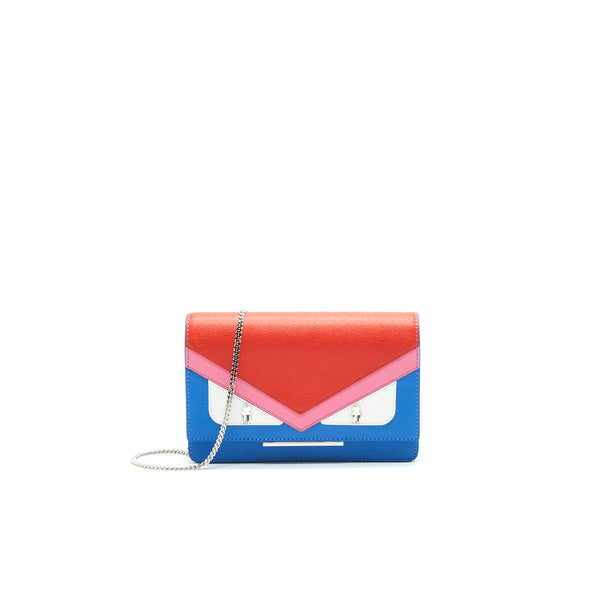 Fendi Monster Wallet on Chain Orange/ Blue