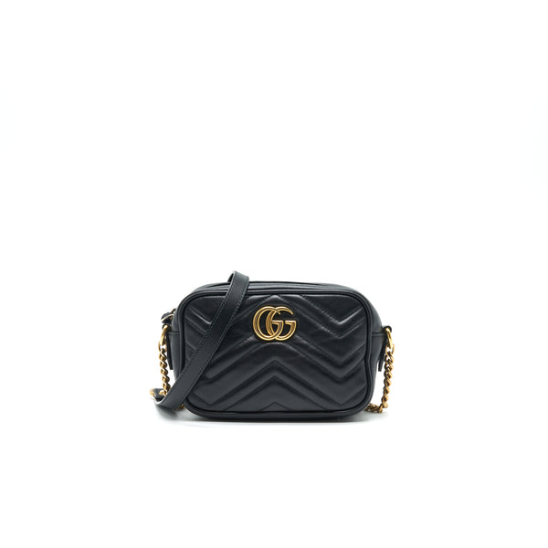 Gucci GG Marmont Mini Camera Bag Black GHW