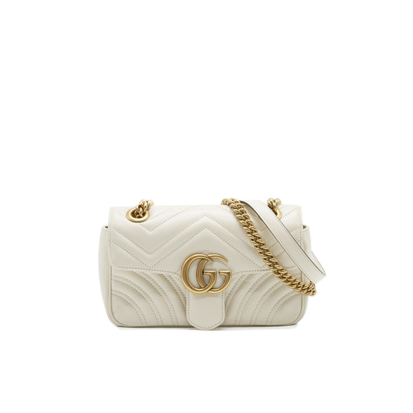 GUCCI GG MINI MARMONT CREAM WHITE