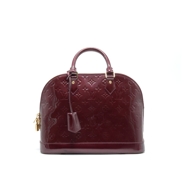 LOUIS VUITTON ALMA PM PATENT LEATHER AMARANTE GHW