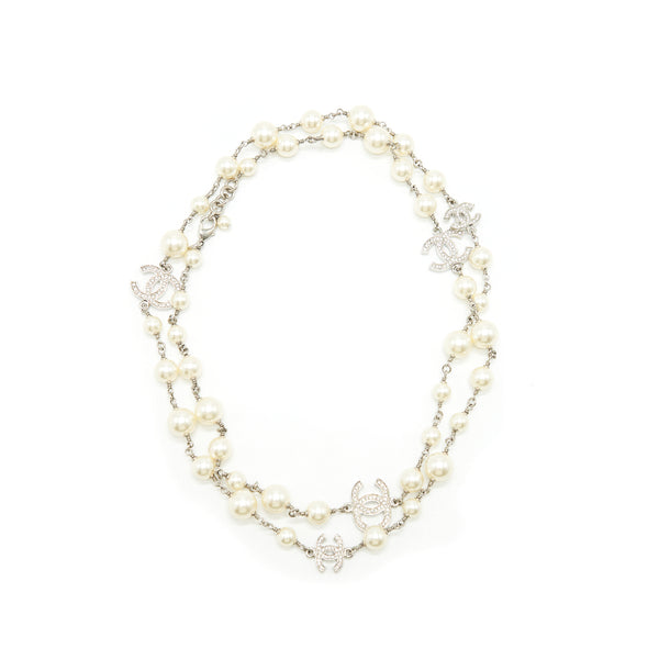 CHANEL CC PEARL LONG NECKLACE SHW