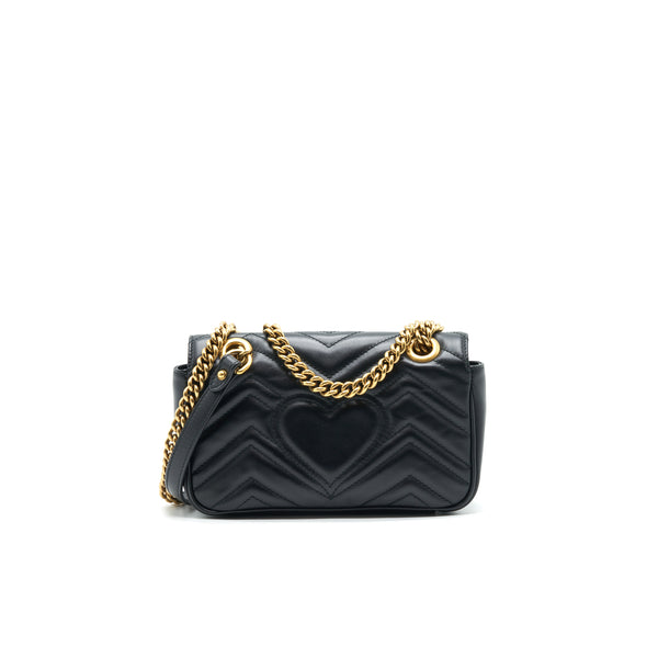 GUCCI GG MARMONT MINI BAG BLACK WITH GHW