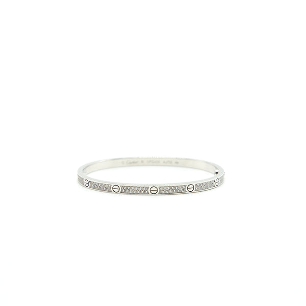 Cartier Love Bracelet, Small Mode Paved White Gold With Diamonds