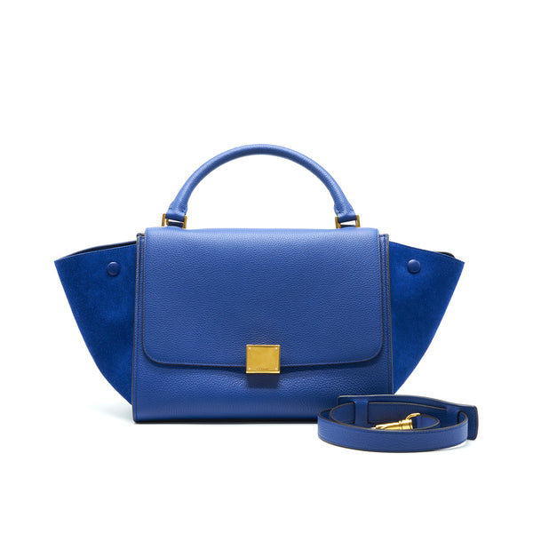 Celine Trapeze Blue with GHW
