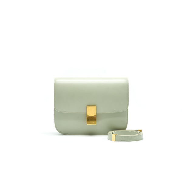 Celine Medium Classic Box Light Green New Logo