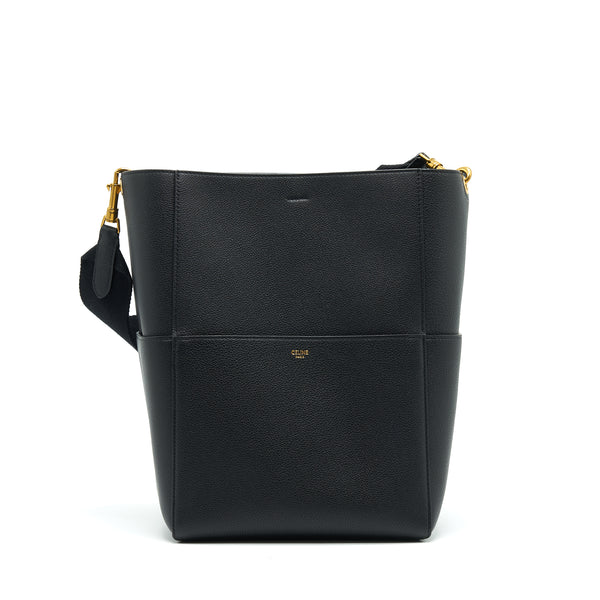 Celine Sangle Bucket Bag Black With GHW