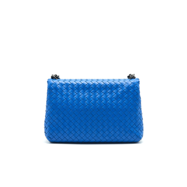 BOTTEGA VENETA SMALL OLYMPIA BAG BLUE