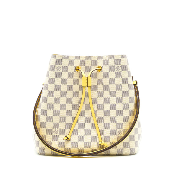 Louis Vuitton Neonoe Damier Azur Canvas Yellow