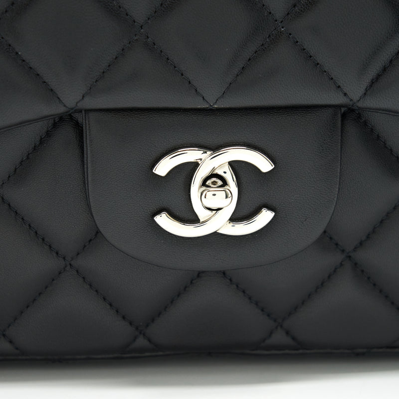 Chanel Single Flap jumbo Bag Lambskin Black SHW