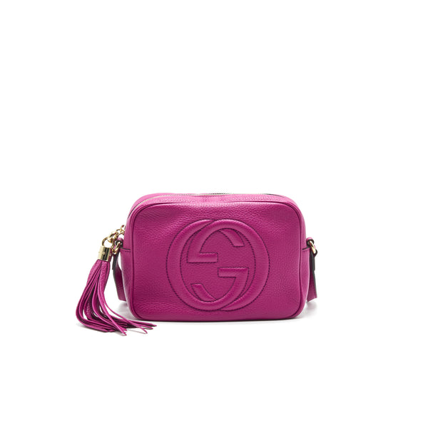 Gucci Soho Small Leather Disco Bag Hot Purple