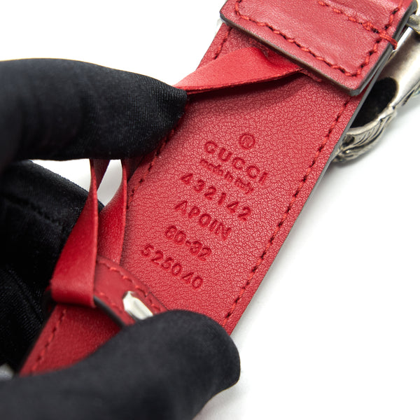 Gucci Dionysus Leather Belt Red