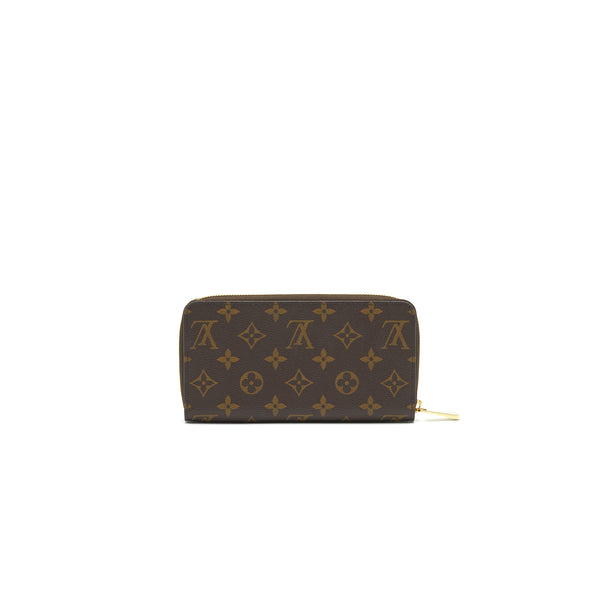 LOUIS VUITTON ZIPPY WALLET MONOGRAM CANVAS BROWN