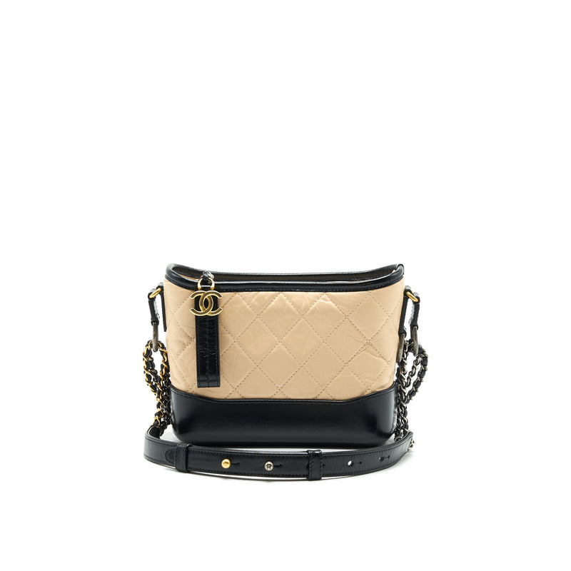 CHANEL SMALL GABRIELLE HOBO BAG BEIGE/BLACK